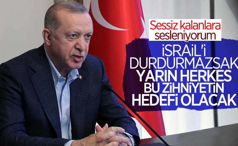 Cumhurbaşkanı Erdoğan: Kudüs'te sergilenen saldırganlığı durdurmalıyız