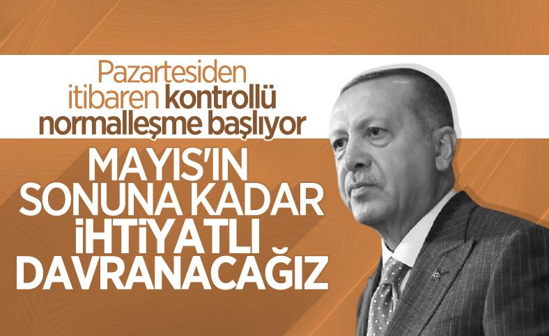 Cumhurbaşkanı Erdoğan'dan kontrollü normalleşme değerlendirmesi