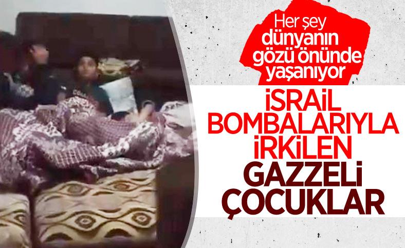 İsrail bombardımanı altındaki çocuklar