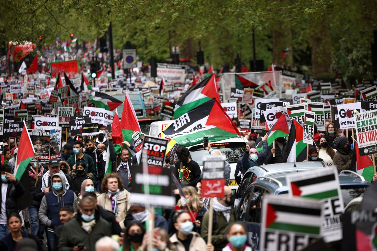 Londra da Filistin e destek eylemi #8