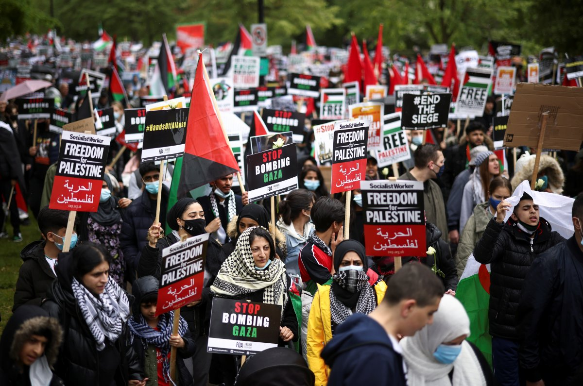 Londra da Filistin e destek eylemi #4