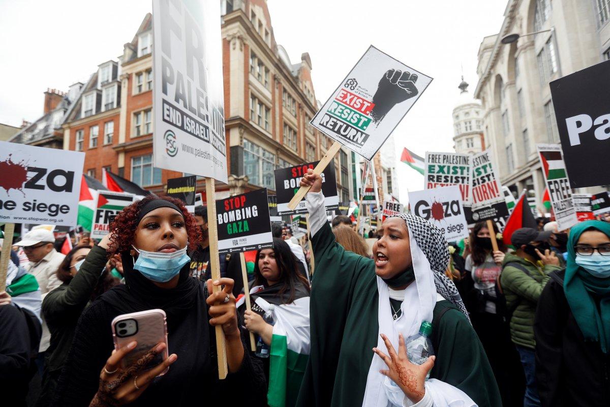 Londra da Filistin e destek eylemi #7