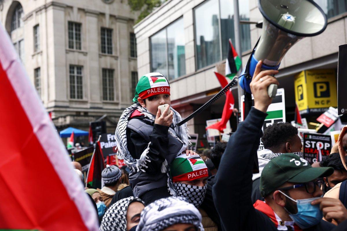 Londra da Filistin e destek eylemi #9