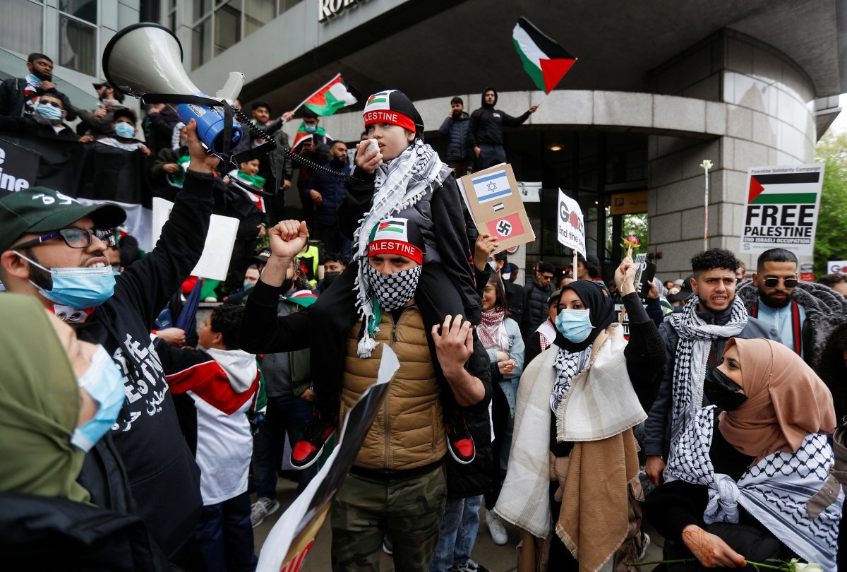 Londra da Filistin e destek eylemi #6