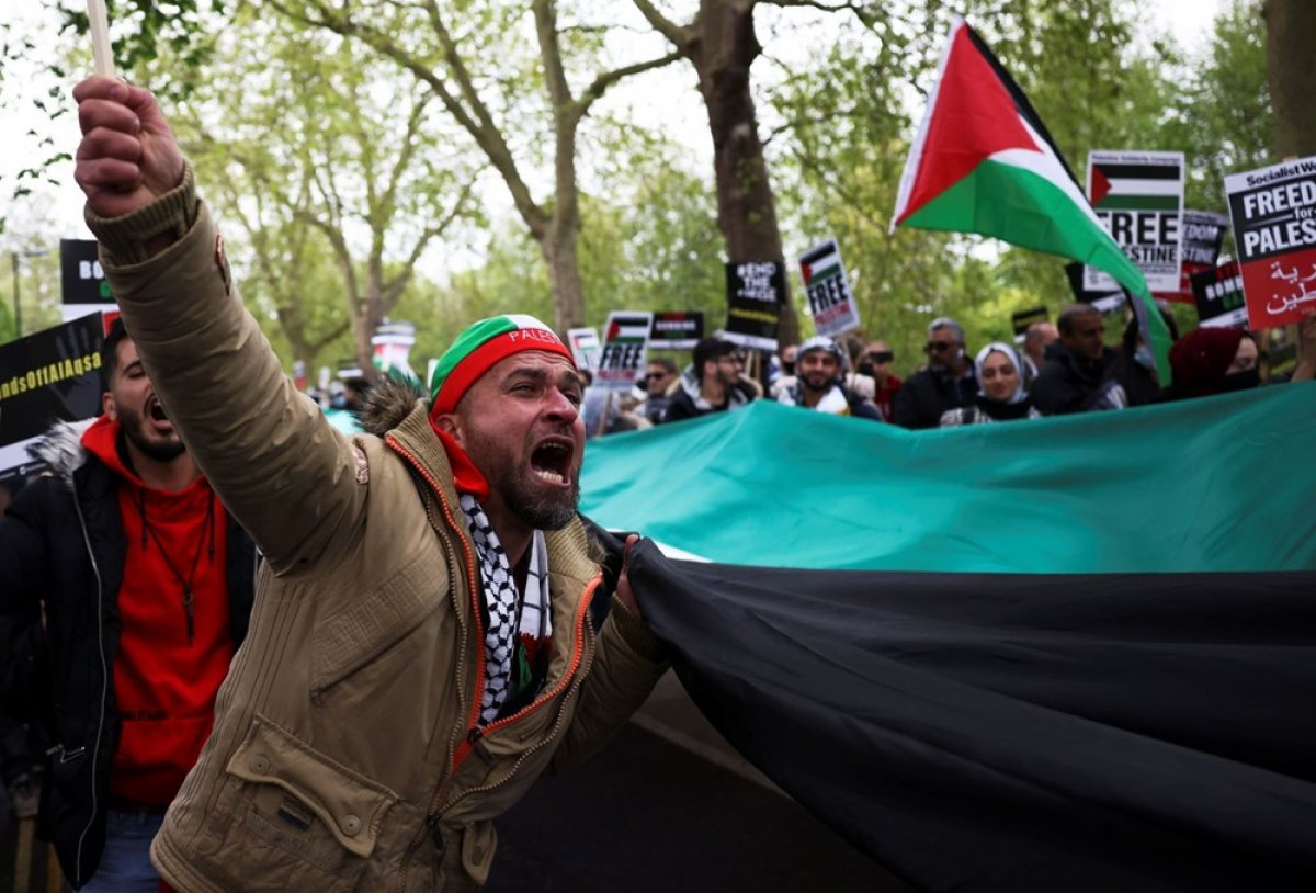 Londra da Filistin e destek eylemi #13