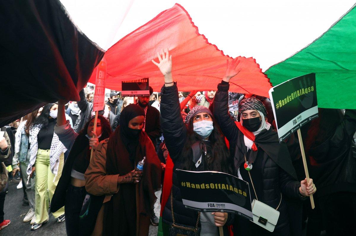 Londra da Filistin e destek eylemi #2