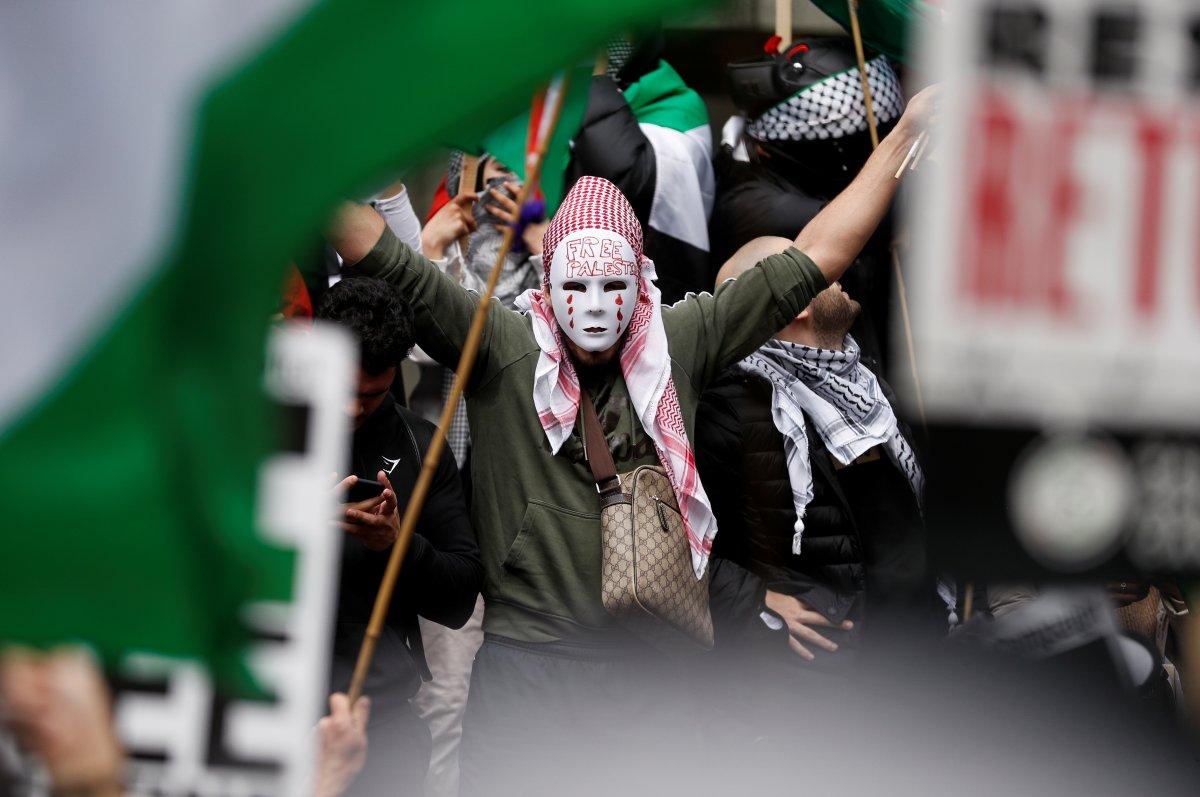 Londra da Filistin e destek eylemi #1
