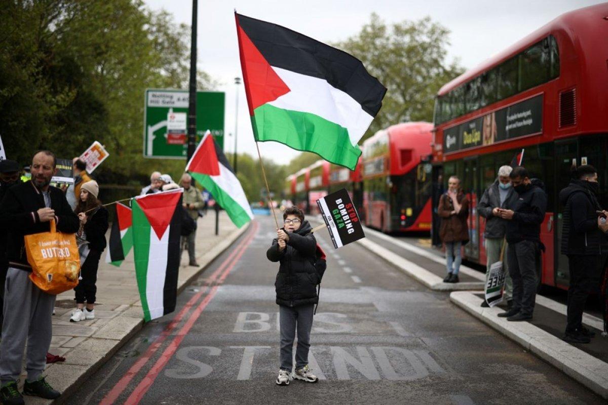 Londra da Filistin e destek eylemi #12