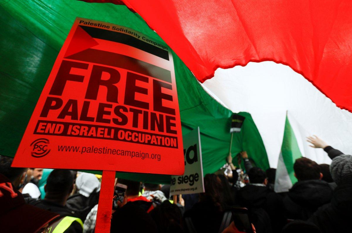 Londra da Filistin e destek eylemi #3
