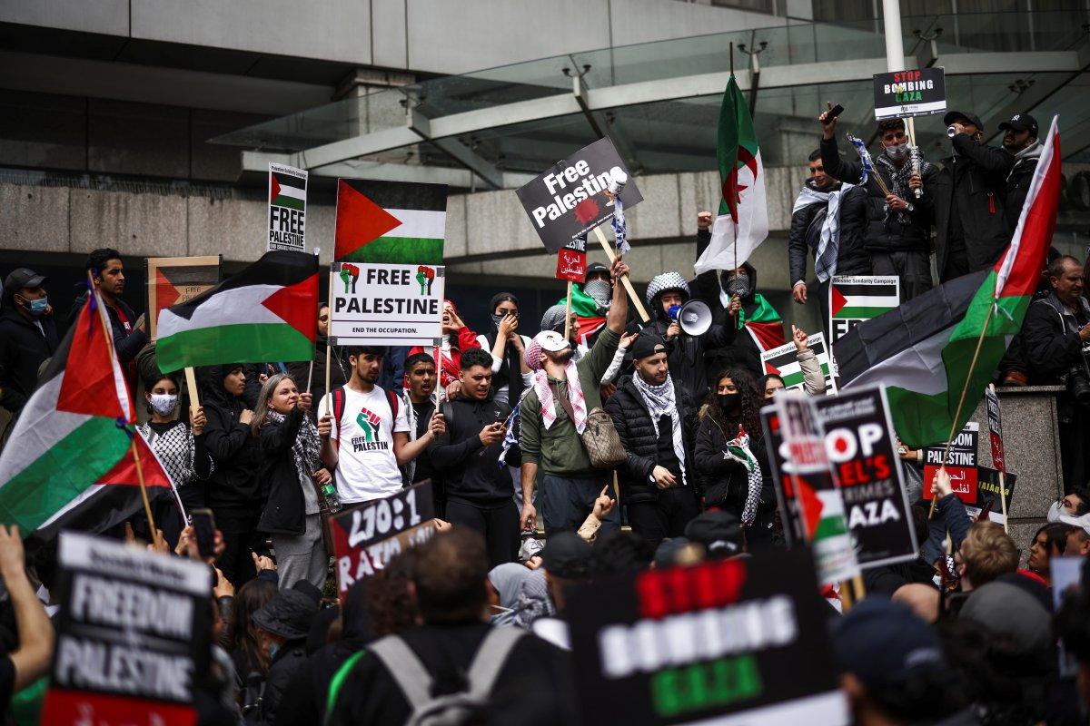 Londra da Filistin e destek eylemi #5