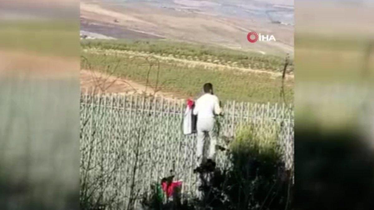 Lübnan-İsrail sınırında İsrail protestosu #1