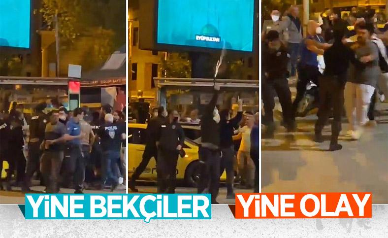 Beşiktaşlı taraftarlar ile güvenlik güçleri arasında arbede çıktı
