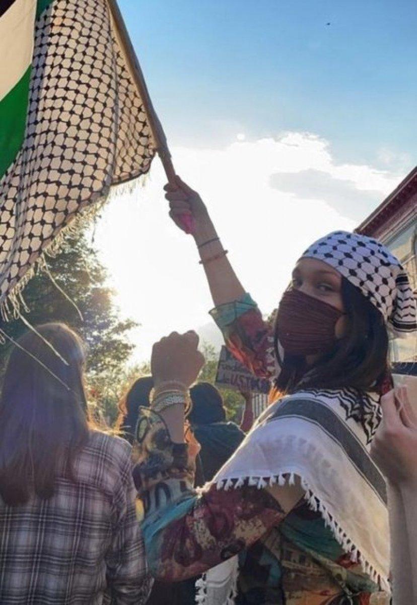 Bella Hadid, Filistin için sokağa indi  #4