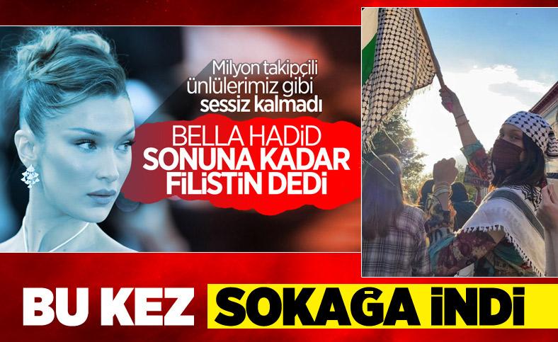 Bella Hadid, Filistin için sokağa indi