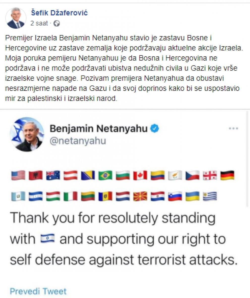 Binyamin Netanyahu dan, İsrail'e destek veren ülkeler paylaşımı #3