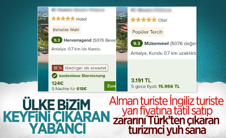 Türkiye'de yabancı turiste yerli turistten daha ucuza otel fiyatı veriliyor