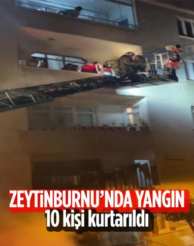 Zeytinburnu'nda yangın: 10 kişi kurtarıldı