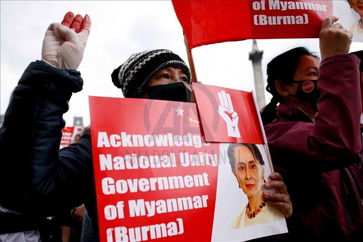 Myanmar da öldürülen darbe karşıtı göstericilerin sayısı 796 ya yükseldi #5