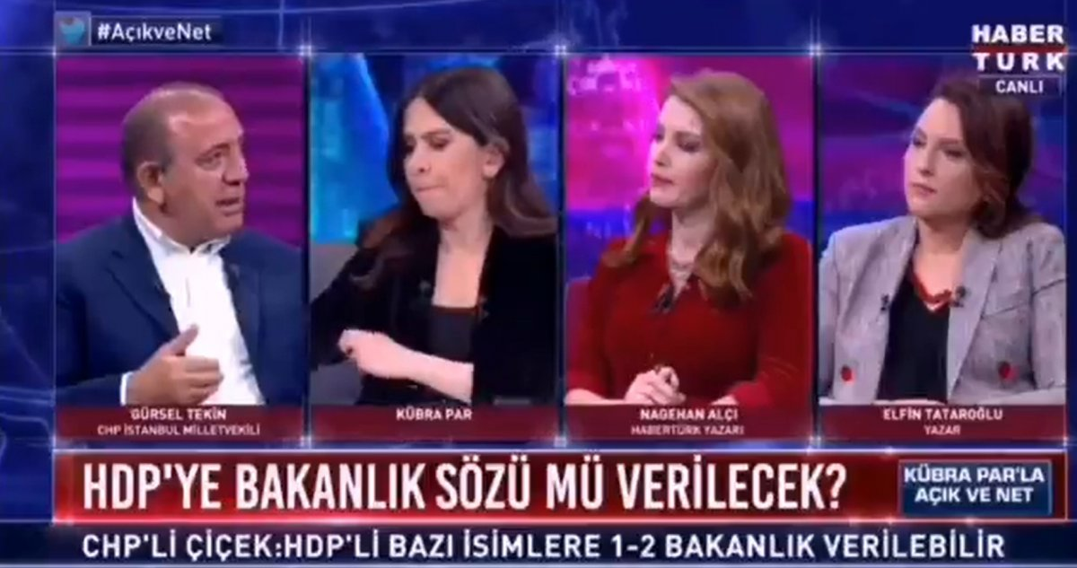 CHP li Gürsel Tekin: HDP ye neden bakanlık verilmesin #1