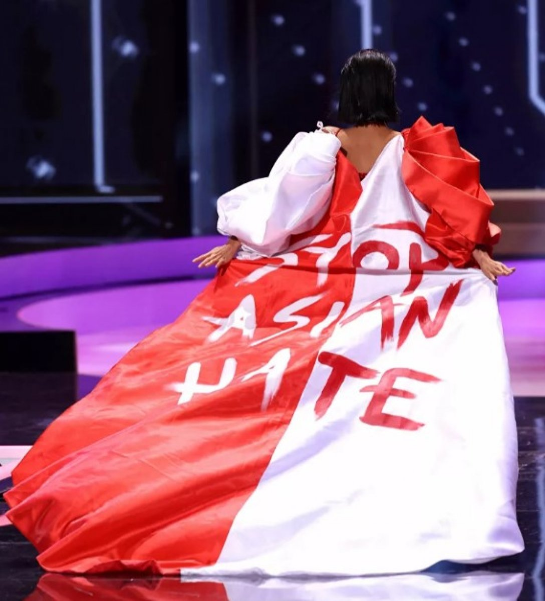 ABD de düzenlenen Kainat Güzellik Yarışması nda siyasi mesajlar  #3