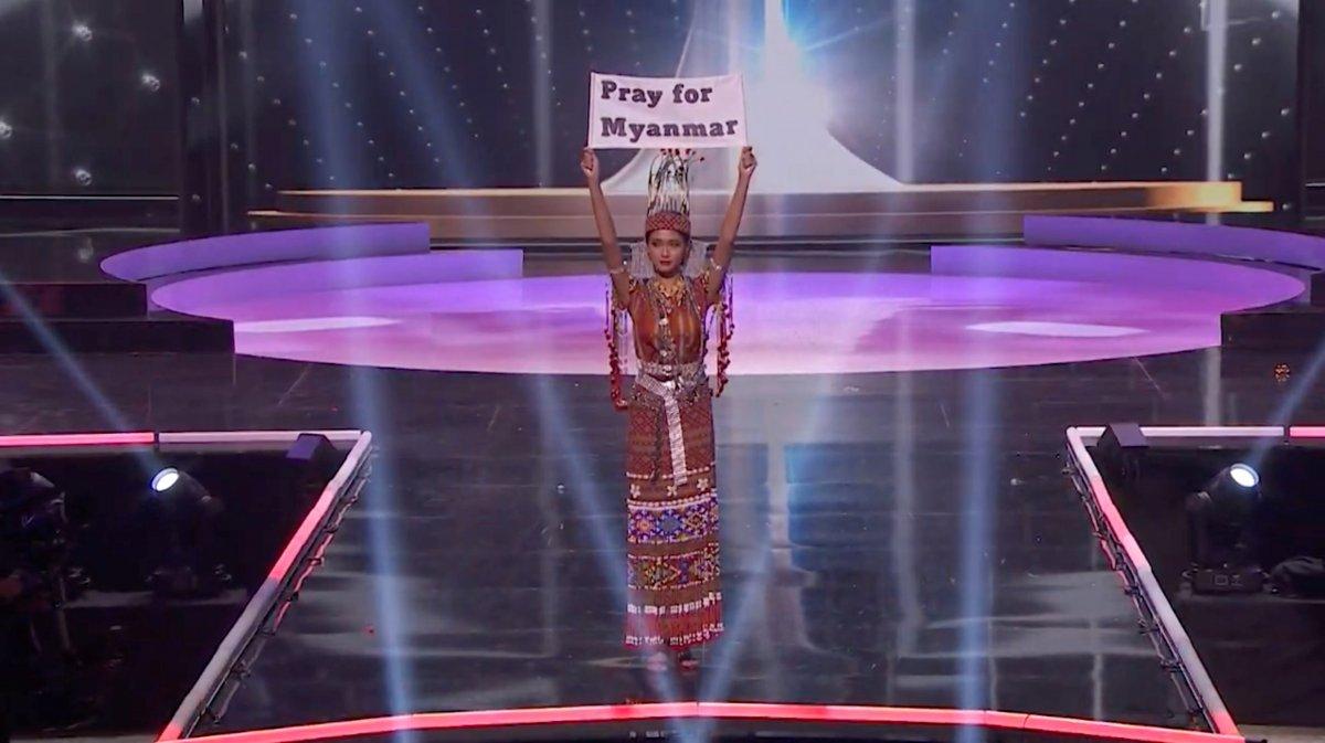 ABD de düzenlenen Kainat Güzellik Yarışması nda siyasi mesajlar  #2