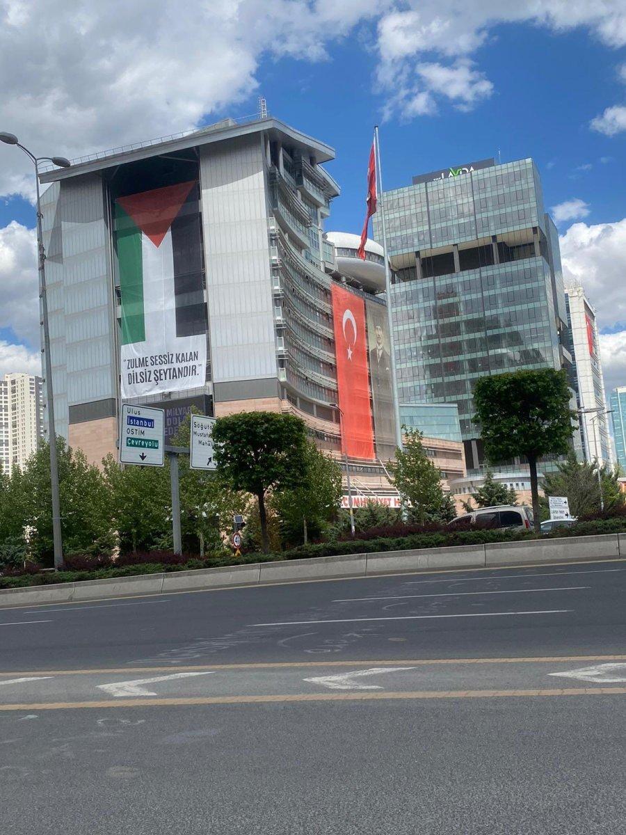 CHP Genel Merkezi ne Filistin bayrağı asıldı  #2