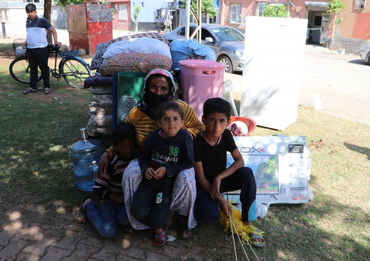 Adana'da kirasını ödeyemeyen kadın, 4 çocukla sokakta kaldı  #6