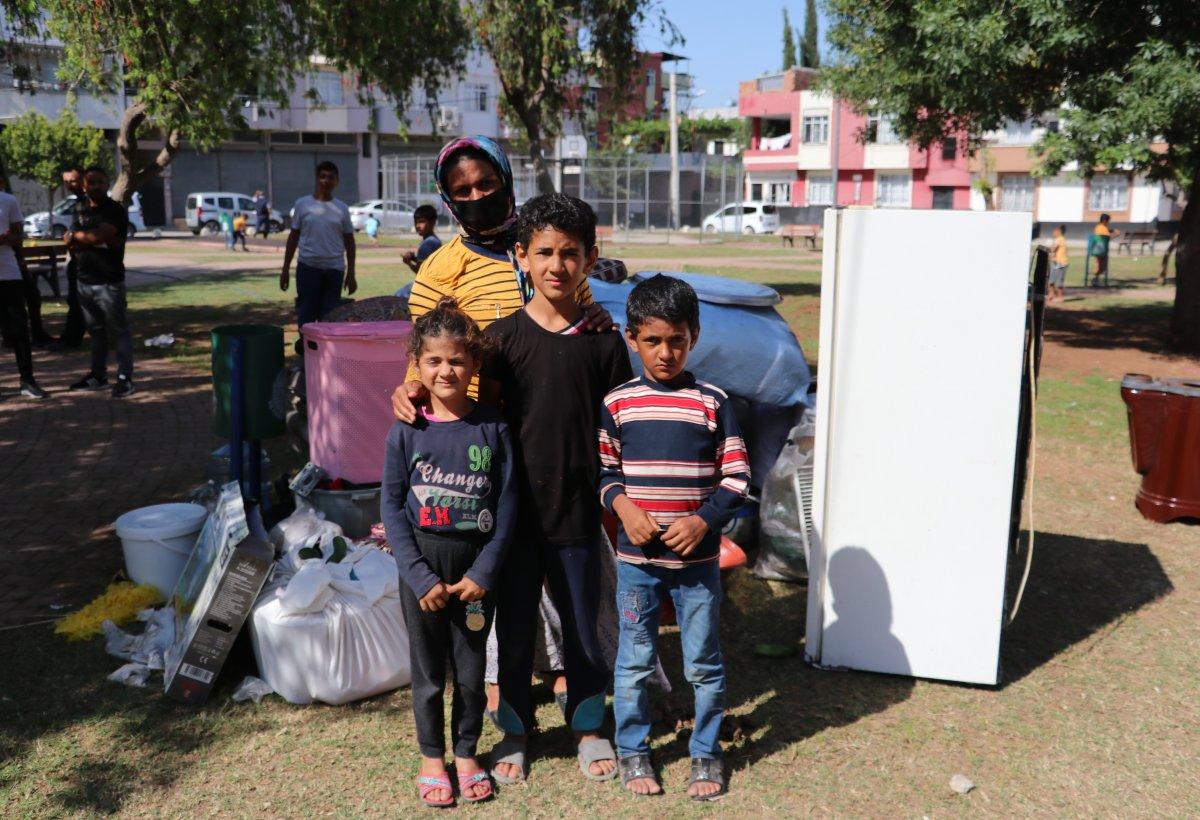 Adana'da kirasını ödeyemeyen kadın, 4 çocukla sokakta kaldı  #1