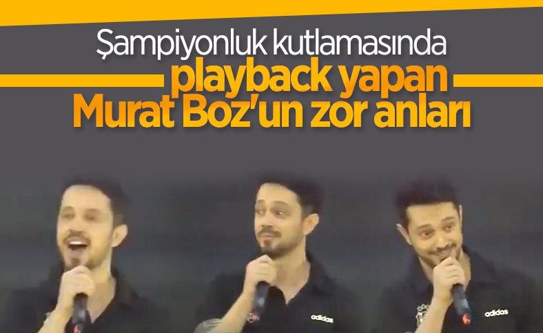 Playback kesilince Murat Boz zor anlar yaşadı