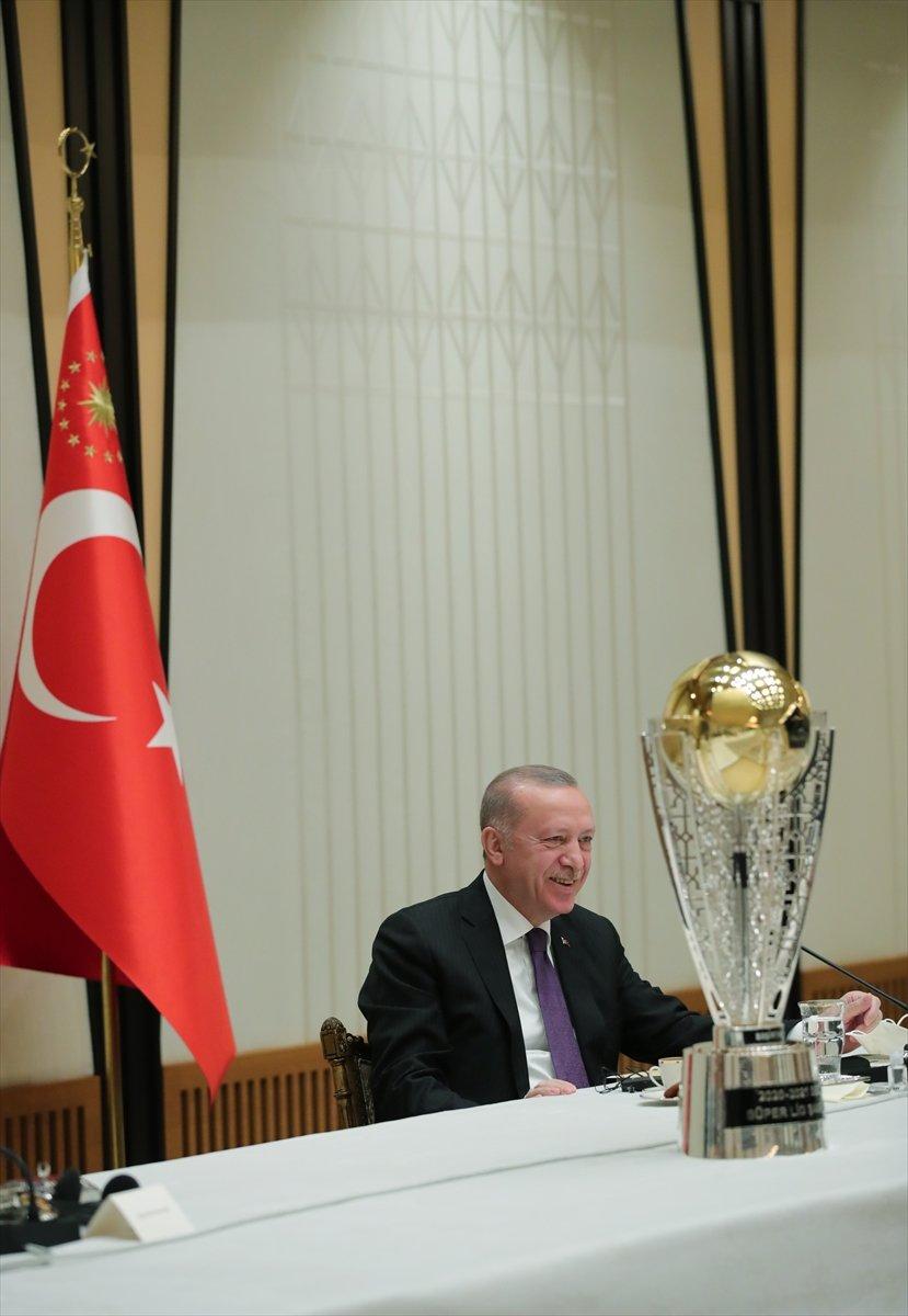 Cumhurbaşkanı Erdoğan, şampiyon Beşiktaş ı kabul etti #9