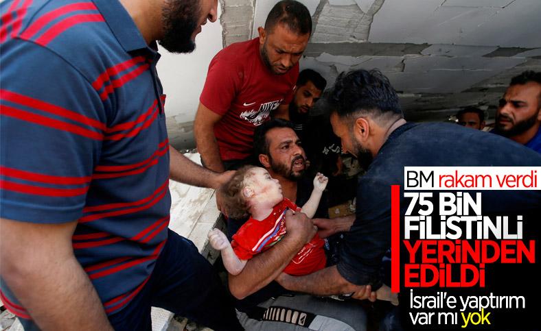 İsrail'in saldırılarında 75 bin Filistinli yerinden edildi