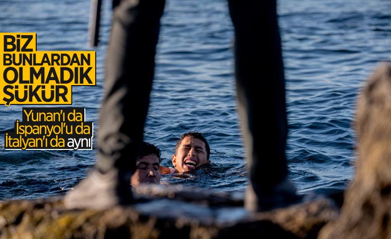 İspanyol askerleri, mültecileri denize döktü