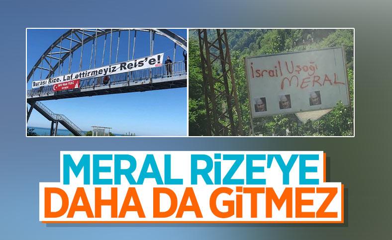 Meral Akşener, Rize'nin her yerinde tepkiyle karşılandı