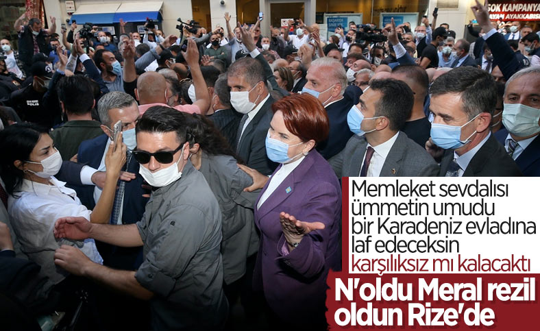 Meral Akşener, Rize Çayeli'nde protesto edildi