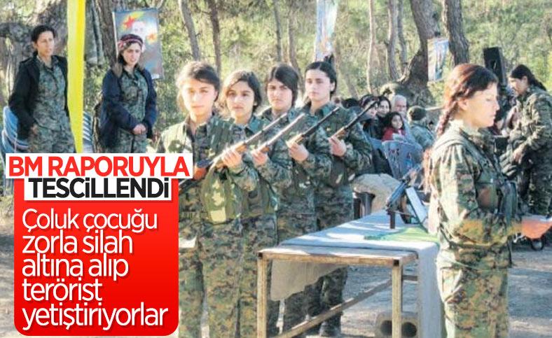 YPG/PKK'nın Suriye'de çocukları savaştırmaya devam ettiği ortaya çıktı