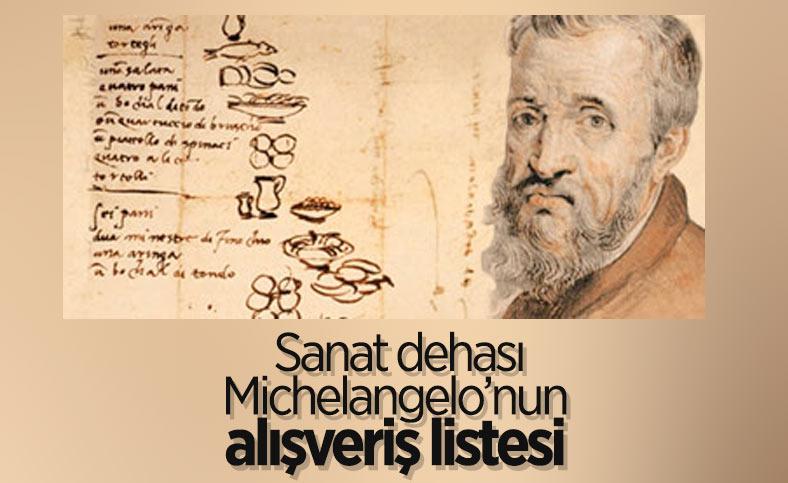 Rönesans sanatçısı Michelangelo'nun günlük yemek rutini