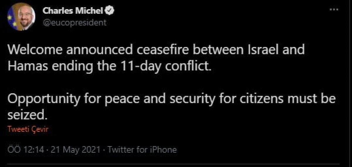 İsrail ile Hamas ın ateşkesi BM tarafından memnuniyetle karşılandı #2
