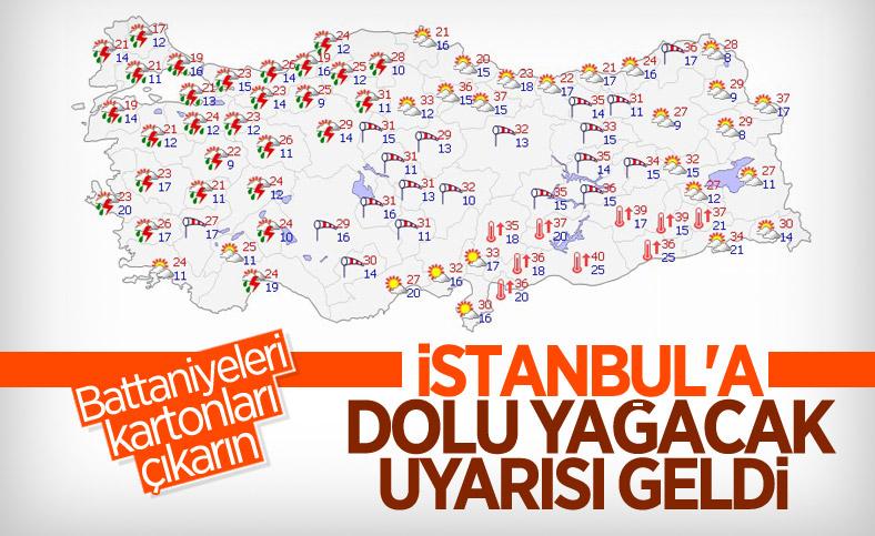 İstanbul için dolu uyarısı yapıldı