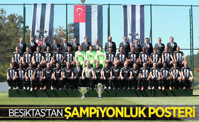 Beşiktaş, şampiyonluk için poster çekimi düzenledi