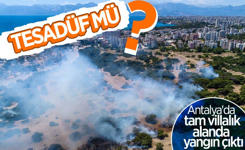 Antalya'da ormanlık alan yandı