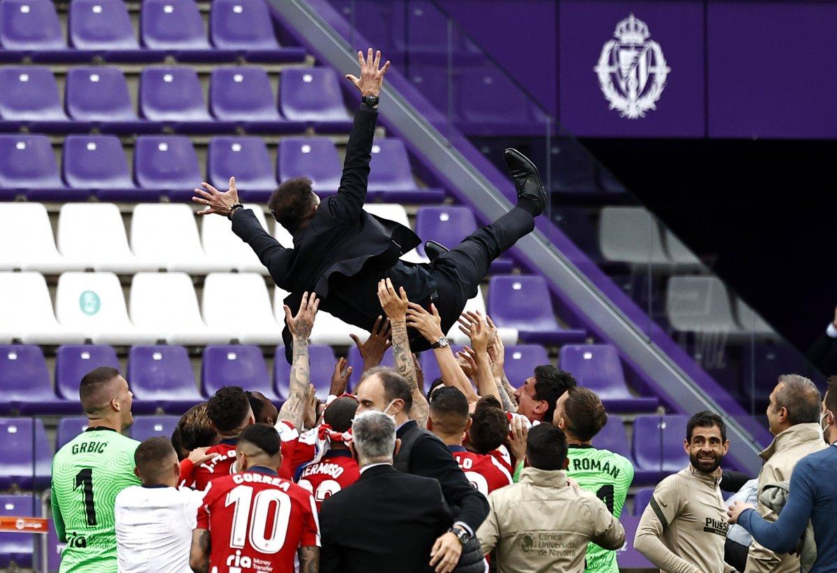 Atletico Madrid 7 yıl sonra La Liga şampiyonu #6