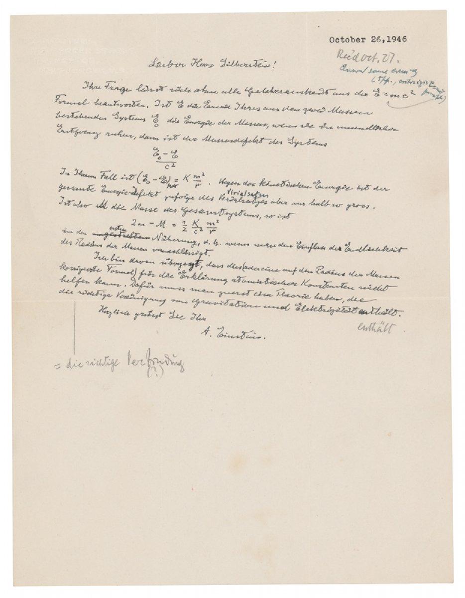 Einstein'ın el yazısı mektubu, 1.2 milyon dolara alıcı buldu #2