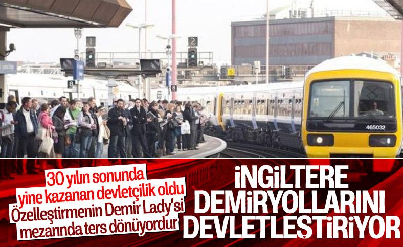 İngiltere'de demiryollarının idaresi devlet kontrolüne alınıyor