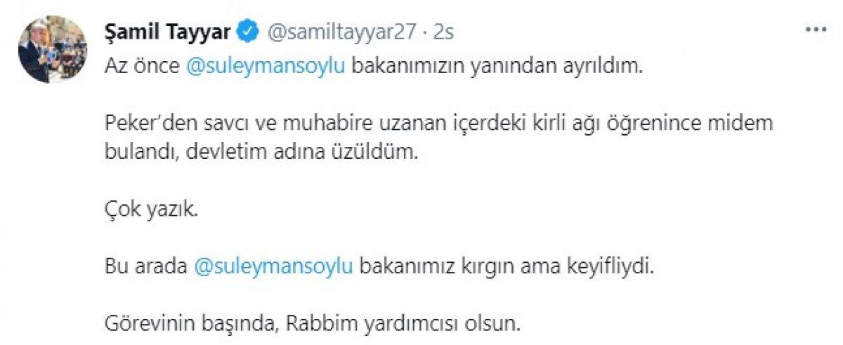 Şamil Tayyar: Süleyman Soylu görevinin başında #1