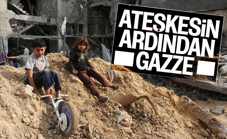 Ateşkes sonrası Gazze'de yaralar sarılıyor