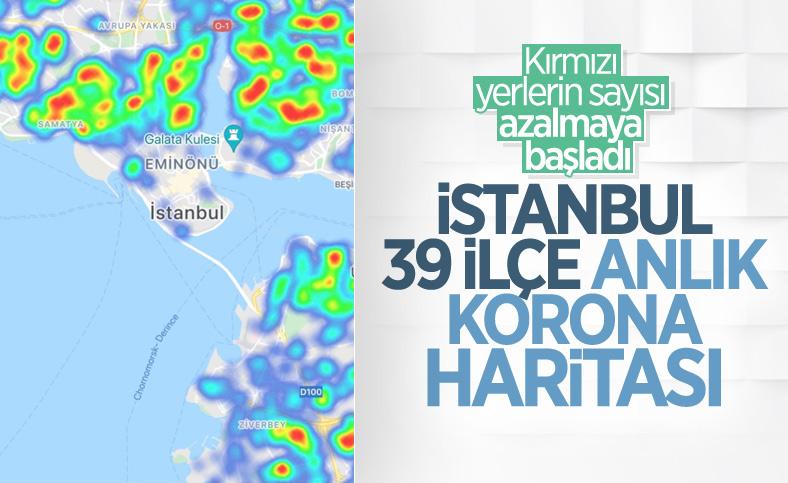 İstanbul maviye döndü: İlçelere göre koronavirüs risk haritası