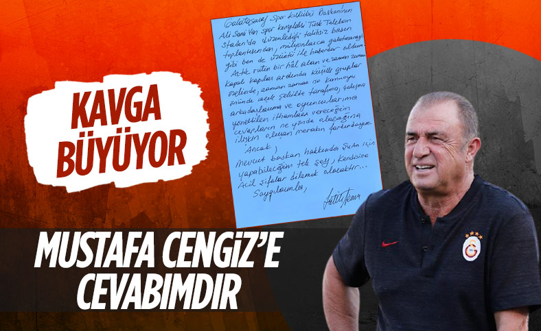 Fatih Terim'den Mustafa Cengiz'e 19.05'te yanıt