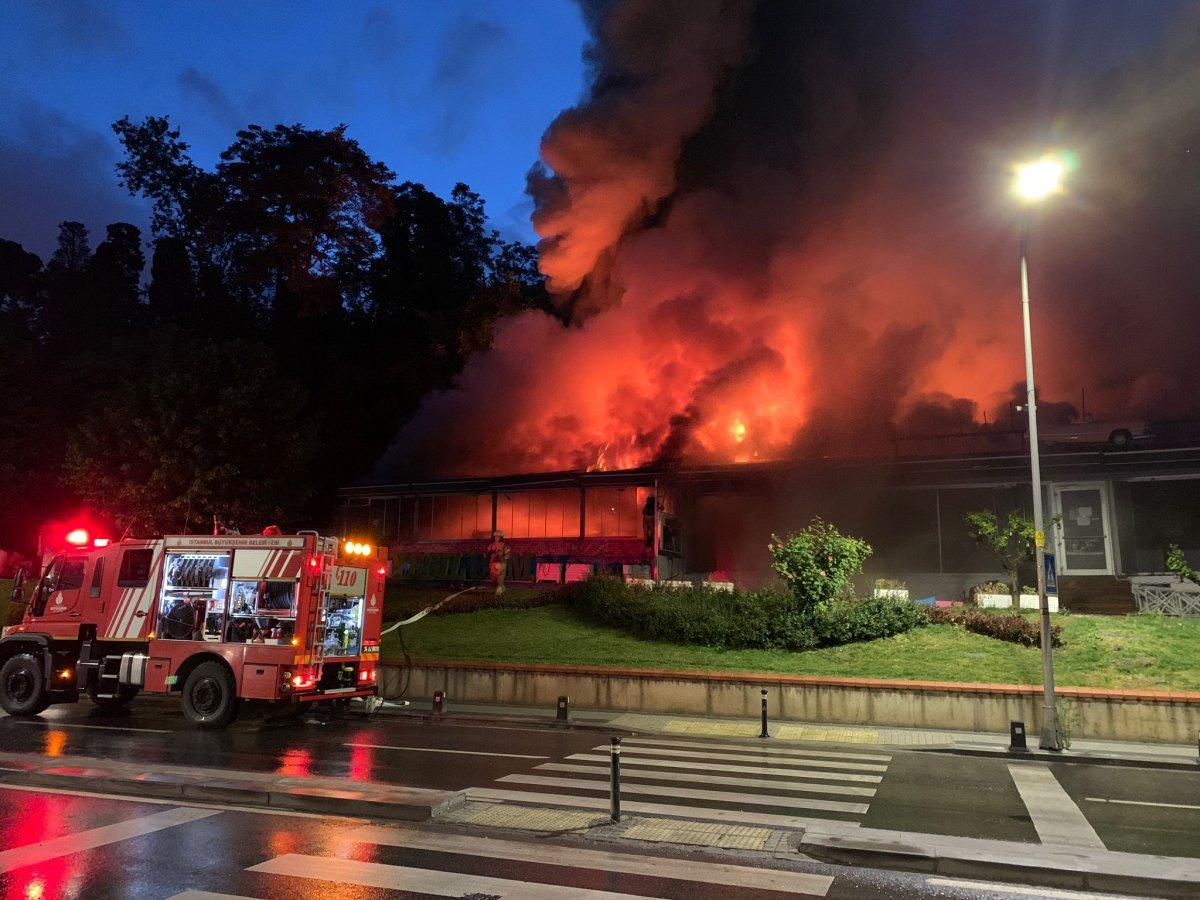 Üsküdar da bir kafede yangın çıktı #1
