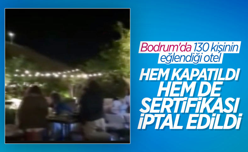 Bodrum'da 130 kişinin maskesiz mesafesiz eğlencesi