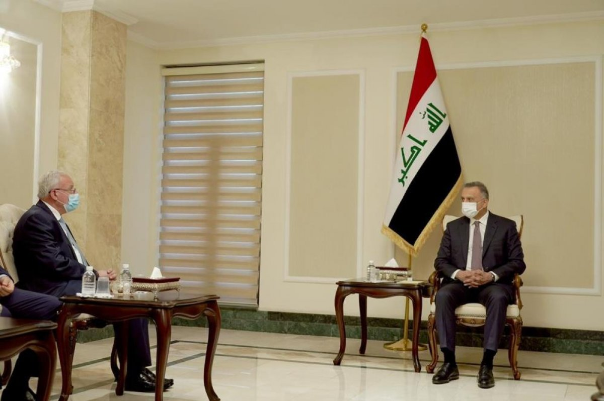 Filistin Dışişleri Bakanı Al-Maliki, Irak Başbakanı el-Kazımi ile görüştü #2